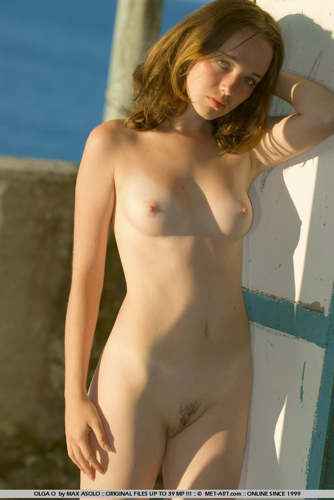 Flashing naked outdoors
